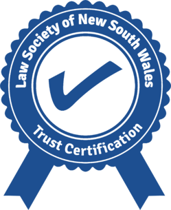 Trust certified Law Society of NSW with ribbons final